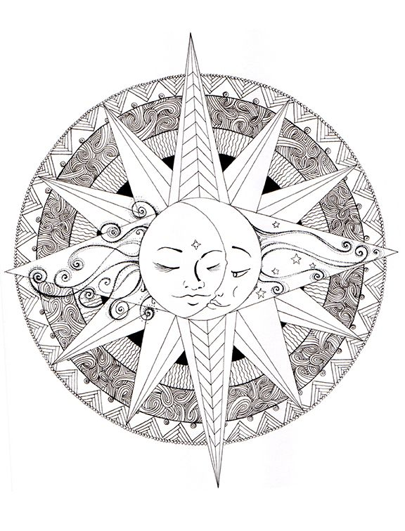 Image Result For Spiritual Mandalas To Color Mandala Coloring Pages Moon Coloring Pages Mandala Coloring