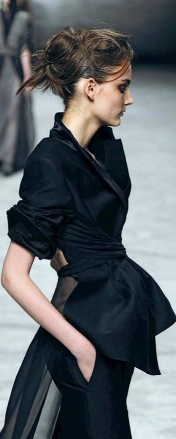 Black Elegance. A sheer panel on the back of a jacket? Where has this been all my life?