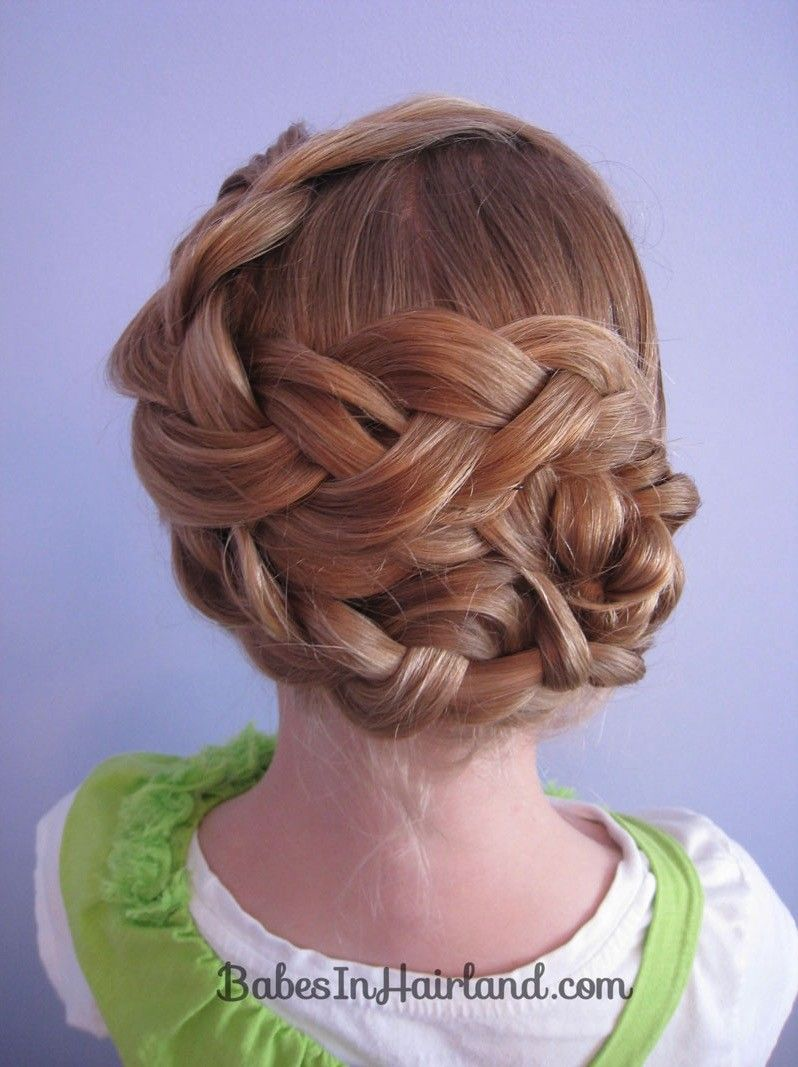 The braid ideas for little girls every mom needs to save twist bun