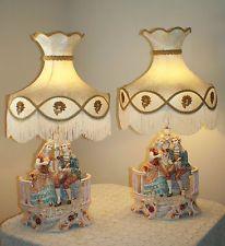 Capodimonte Lamps Vintage Capodimonte Porcelain Figurine Lamps