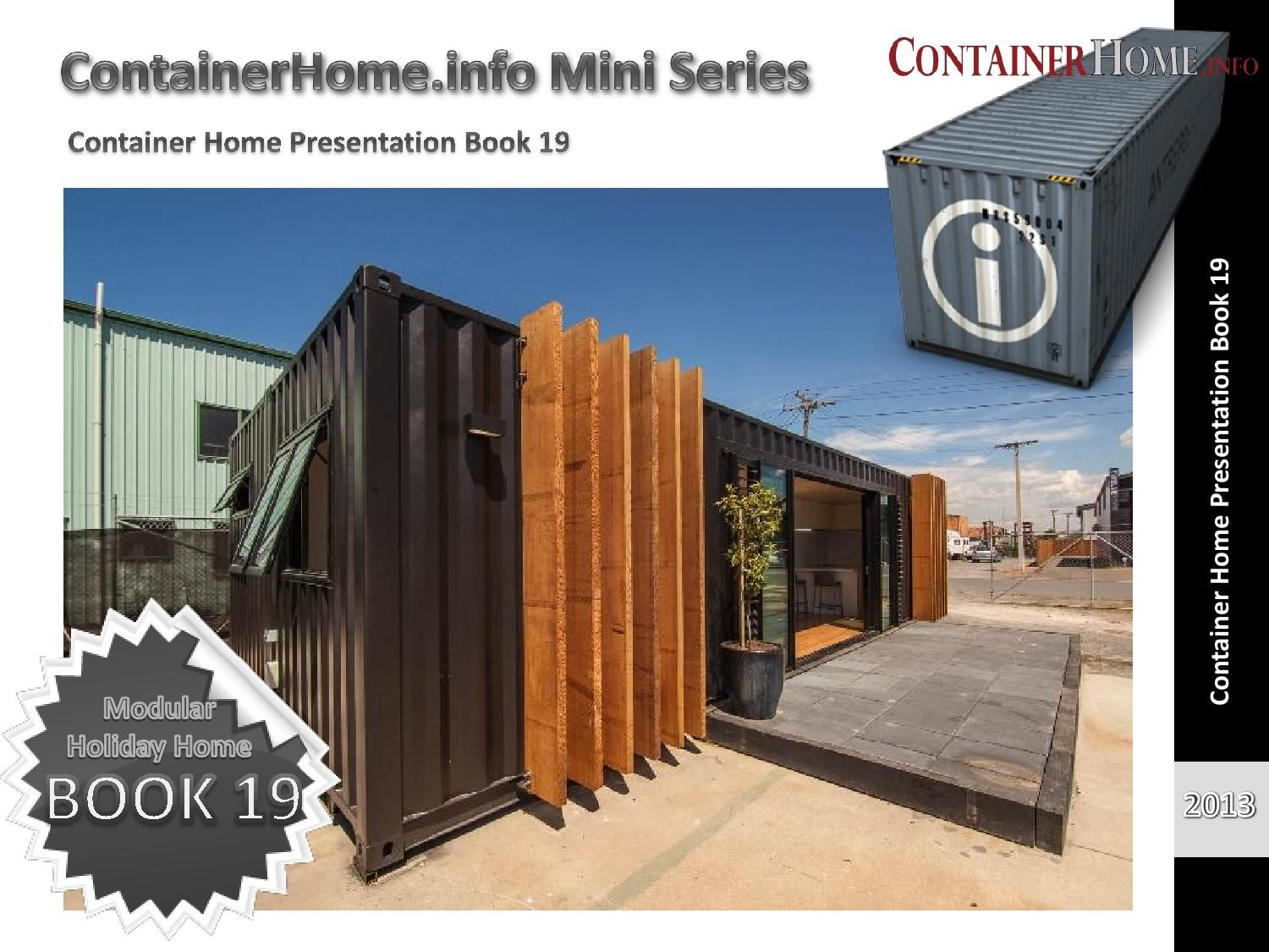 Shipping Container Homes Book 19 by shippingcontainerhomes