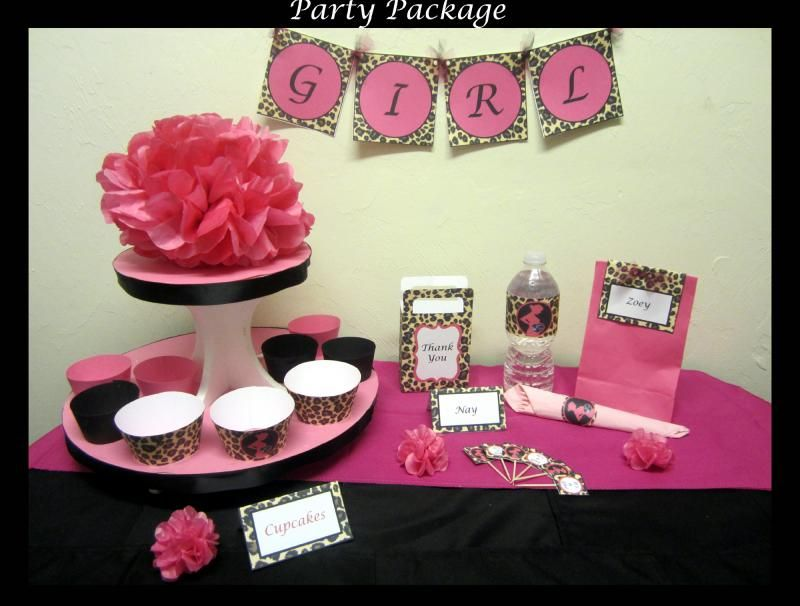 Personalized Printable Party package By Zoleeu0027s Boutique Are you feeling or on a budget? This easy DIY (do it yourself) printable party package is perfect ... & Deluxe Printable Party Decorations - Cheetah / Leopard Baby Shower ...