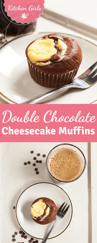 Saftiger Schokoladen-Muffin trifft auf einen Kern aus Käsekuchen. Probiert jetzt unser Rezept für Muffins mit Cheesecake-Füllung #pumpkinmuffins
