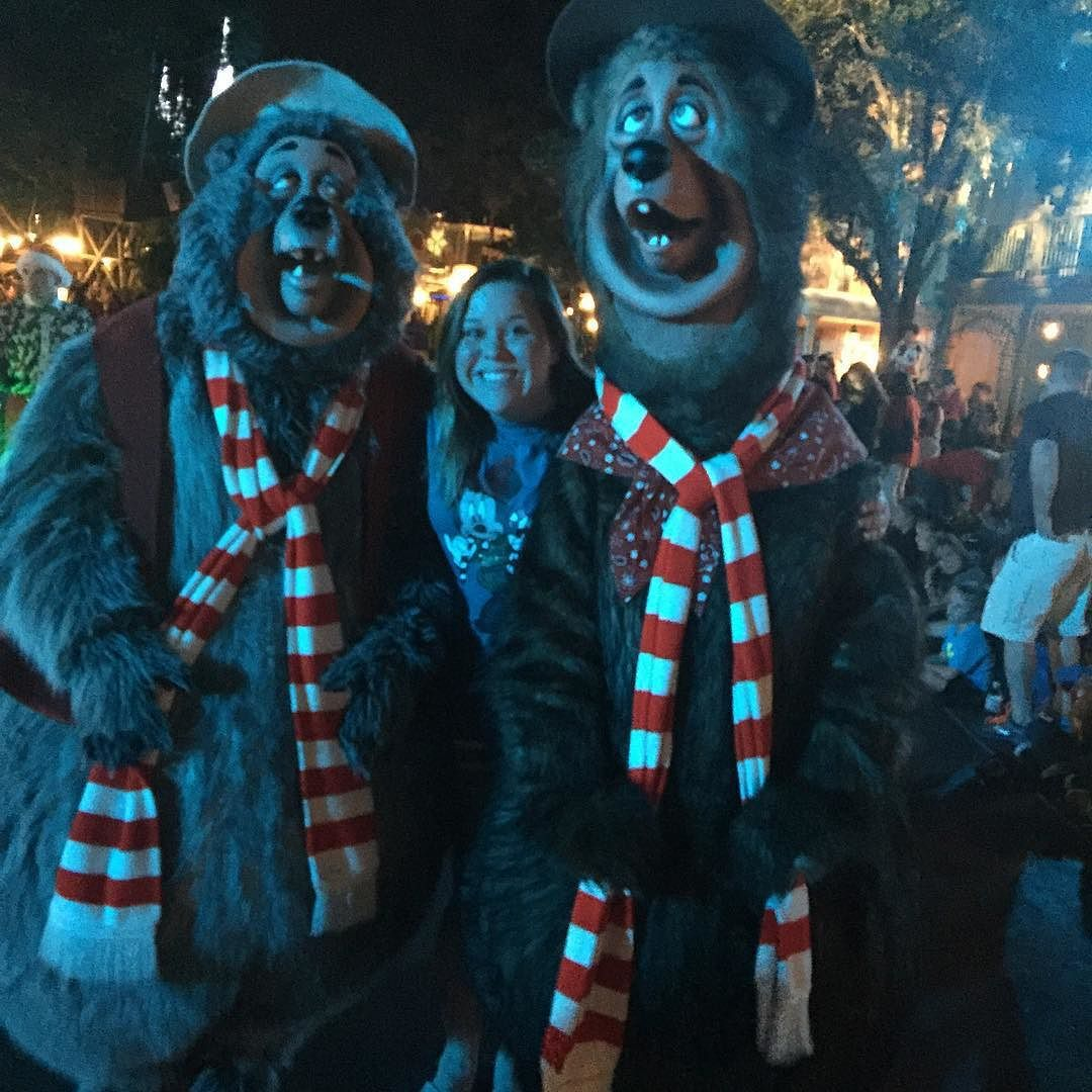 I got to meet some #countrybears tonight at the #disneychristmasparty !!!