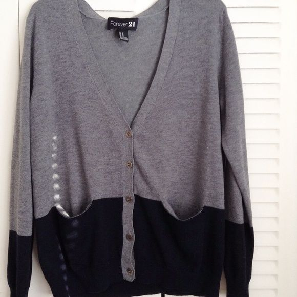 two-tone pocket sweater