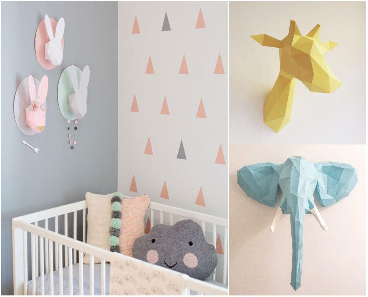 Tendencias decoracion 2015 origami jungla infantil - Decorar habitacion ninos ...