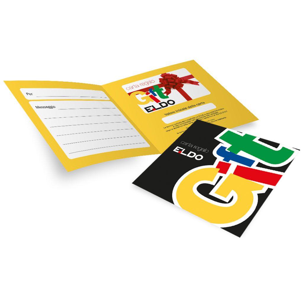 Ideazione e realizzazione Porta Card per la carta regalo ELDO.