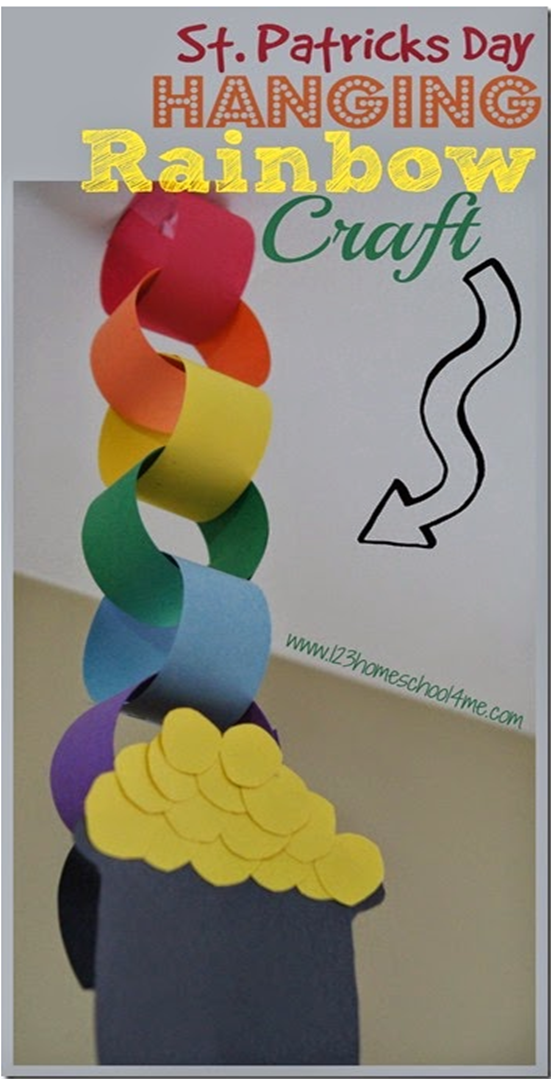 St Patricks Day Hanging Rainbow Craft Teaching Pinterest Pre