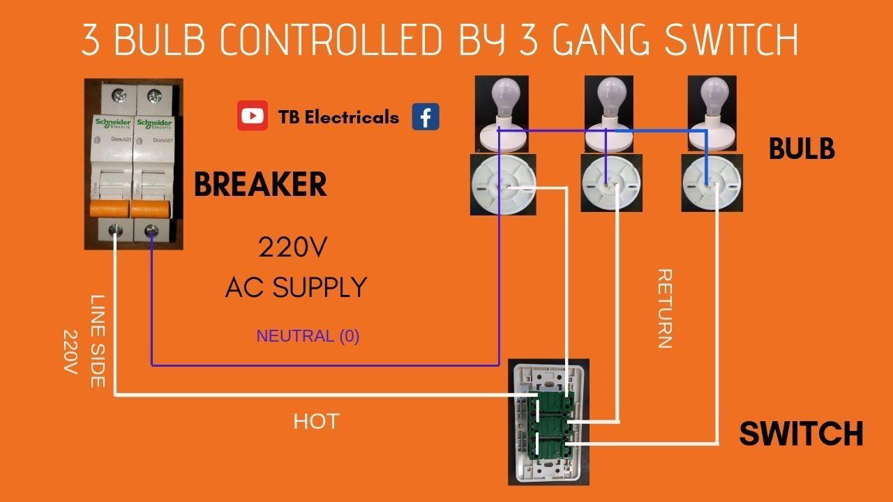 3 gang switch actual demo l wiring tagalog  [ 1280 x 720 Pixel ]