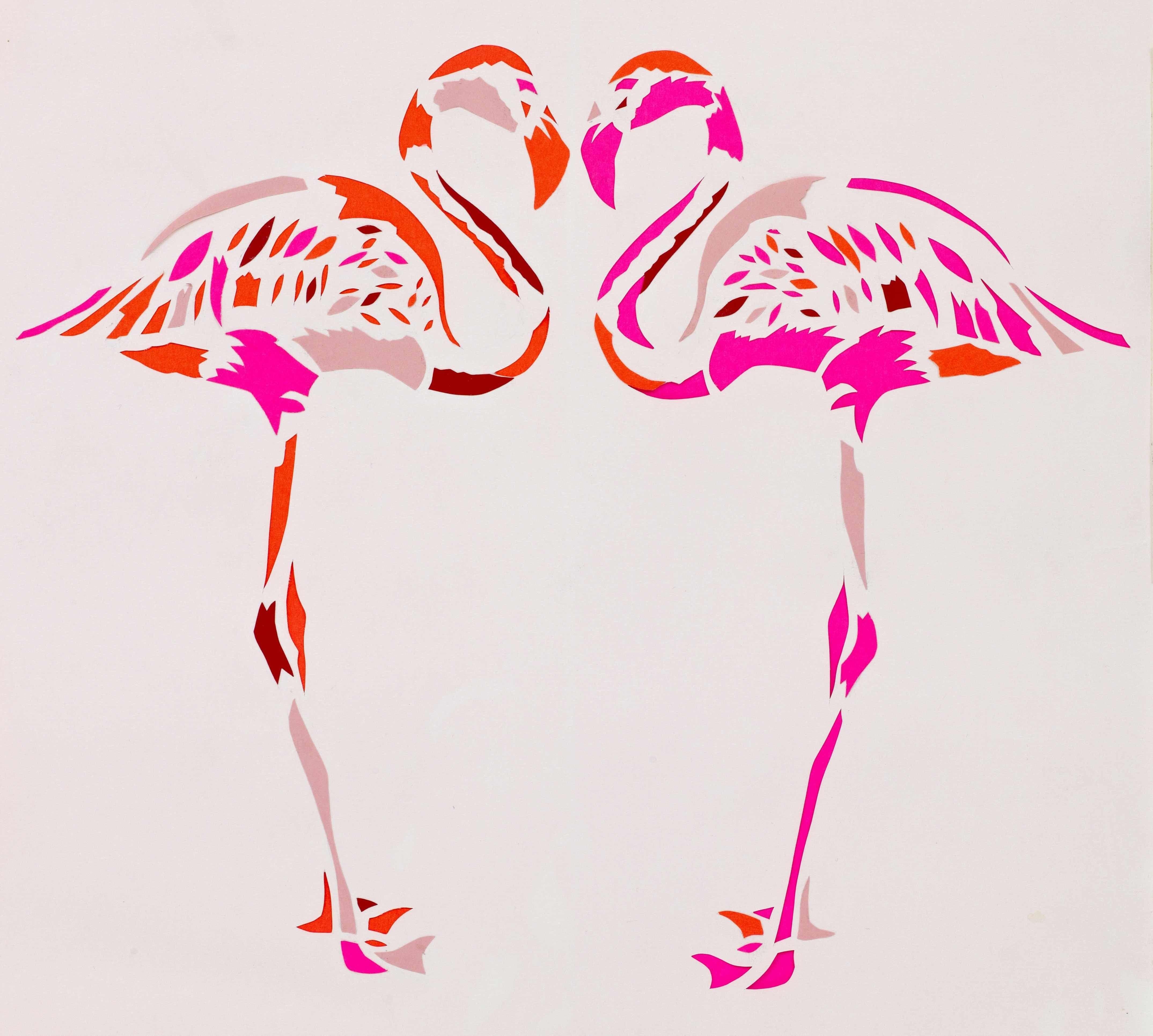 Fuschia Flamingos Limited Edition Fine Art Giclee Print  pink flamingo art
