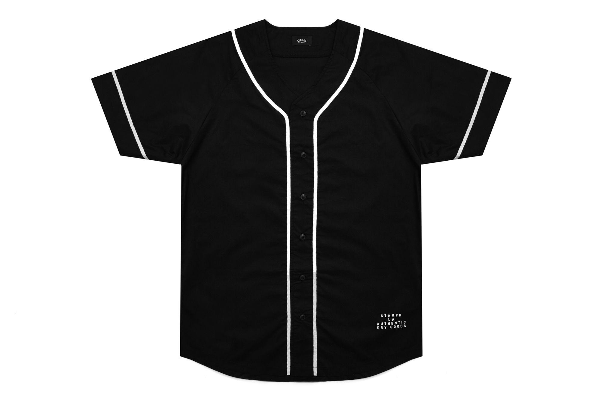 baseball jersey black and white