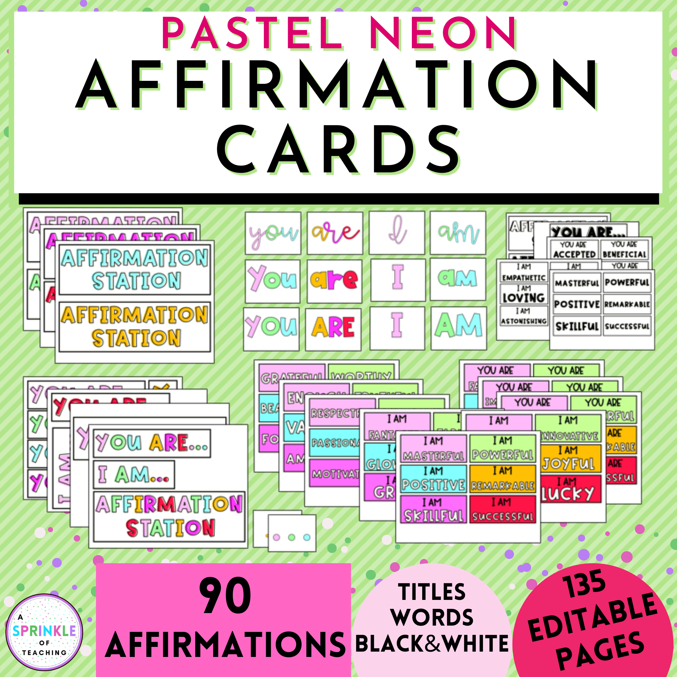 Mirror Positive Affirmation Cards