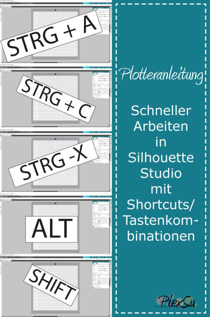Shortcuts – Tastenkombinationen im Silhouette Studio – PiexSu