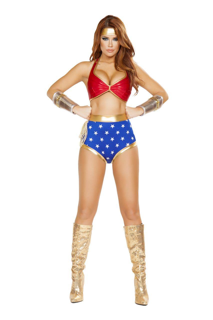 Sexy Roma Blue Red Gold Mighty Comic Hero Wonder Woman Superhero ...