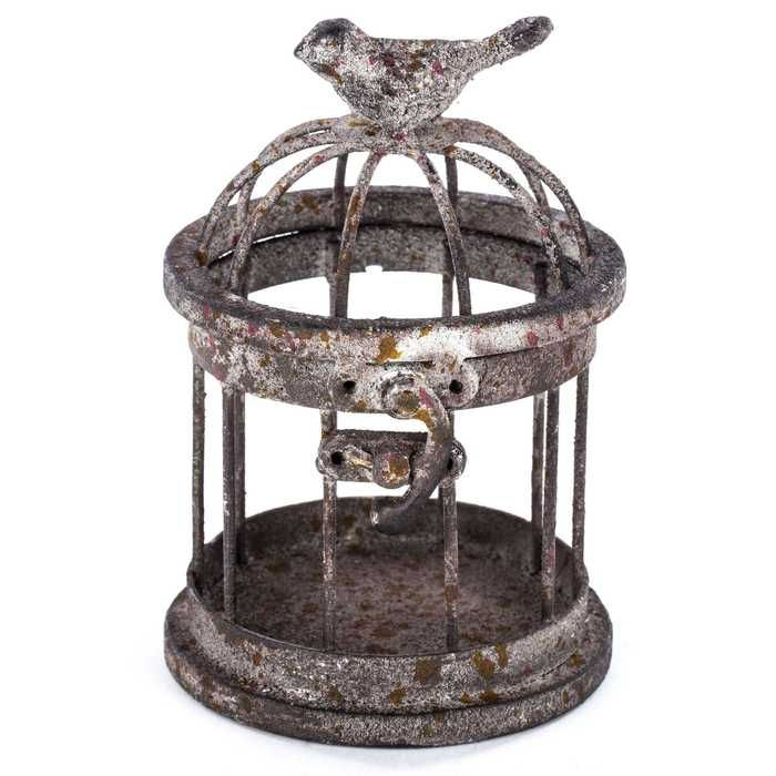 Antique White Metal Bird Cage Bird Cage Decor Bird Cage Metal Birds