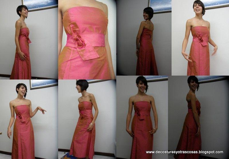 Como hacer vestido largo fiesta