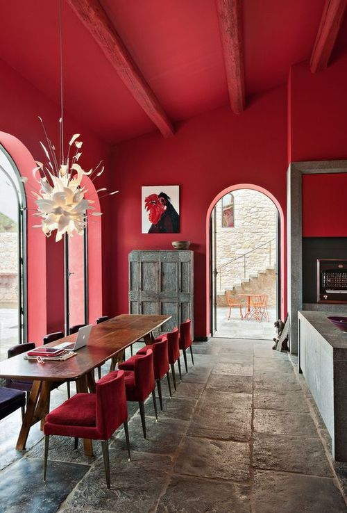Home Design Tumblr Red Red Interior Design Red Dining Room