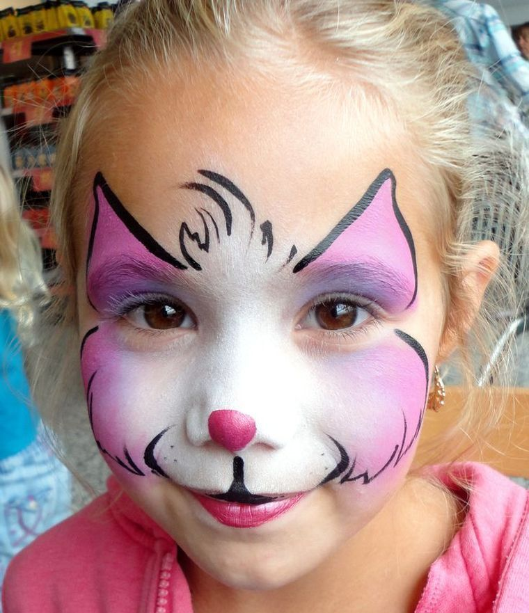 Maquillage halloween fille chat facile face painting ideas pinterest face paintings face - Maquillage chat simple ...