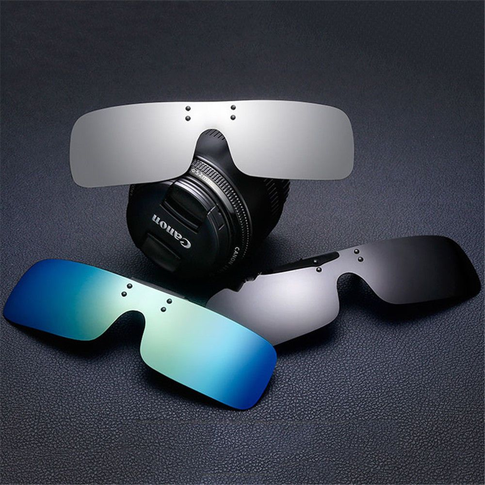 Men Attractive Clip-on Rimless Polarized Sunglasses UV400 TAC Integrated Lens