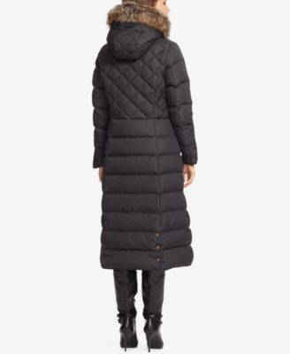 1e90712ae Lauren Ralph Lauren Hooded Maxi Down Jacket - Black XXL   Products ...