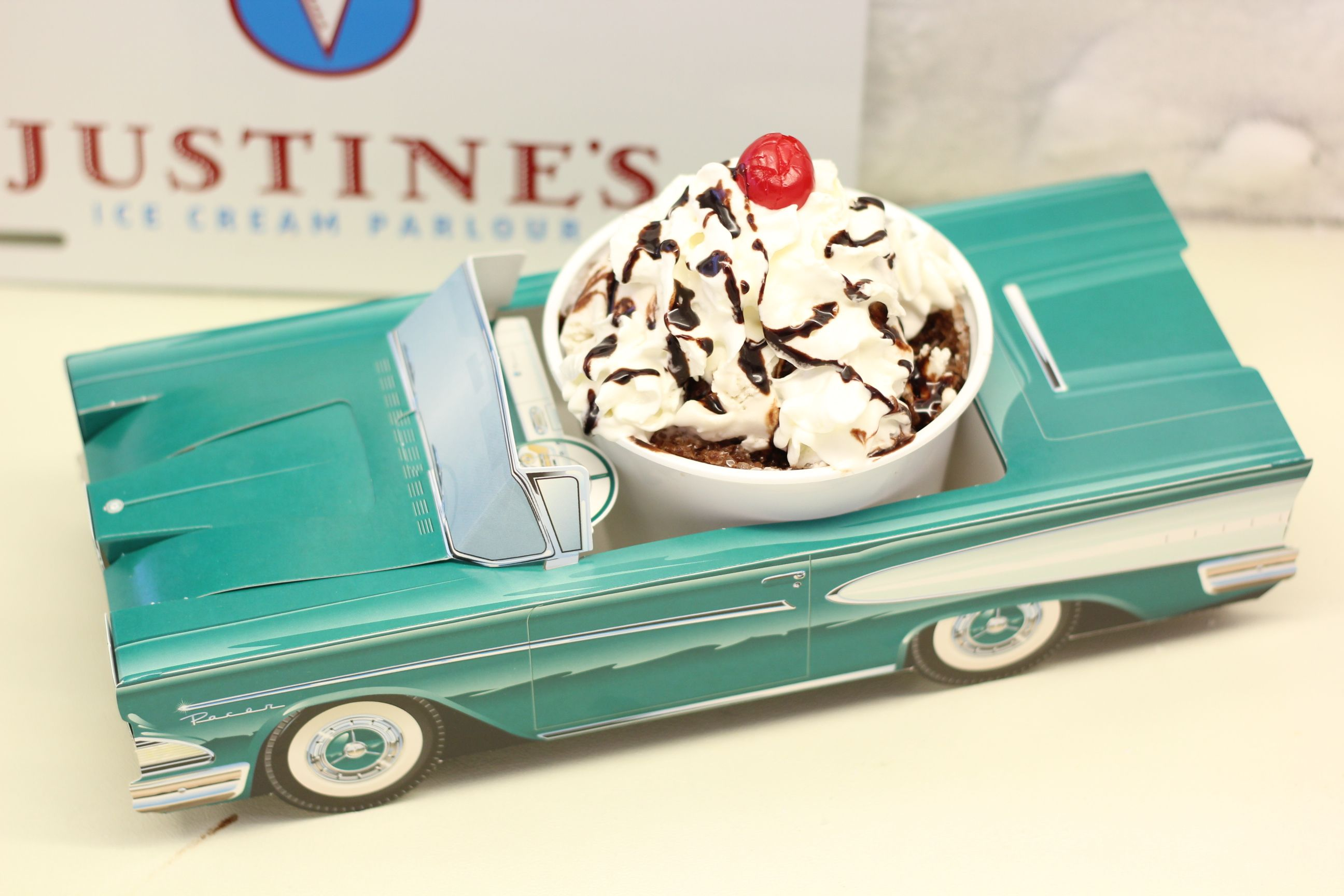 Is this not the cutest sundae?  Get the StreetRod at Justine's in Ocean City! #ocmd