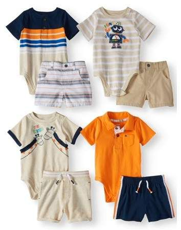 38599f343 Garanimals Mix & Match Outfits Kid-Pack Gift Box, 8pc Set (Baby Boys ...