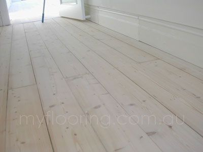 White Lime Wash On Old Baltic Pine Floor Flooring In