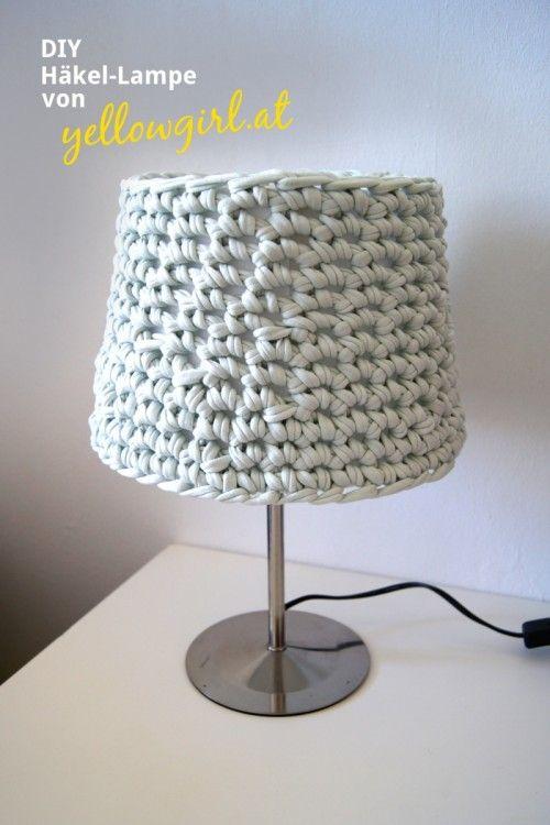 Cozy Diy Crocheted Lampshade Shelterness Crochet Pinterest
