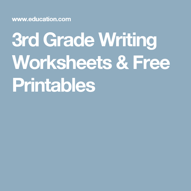 3rd Grade Writing Worksheets Free Printables 3rd Grade
