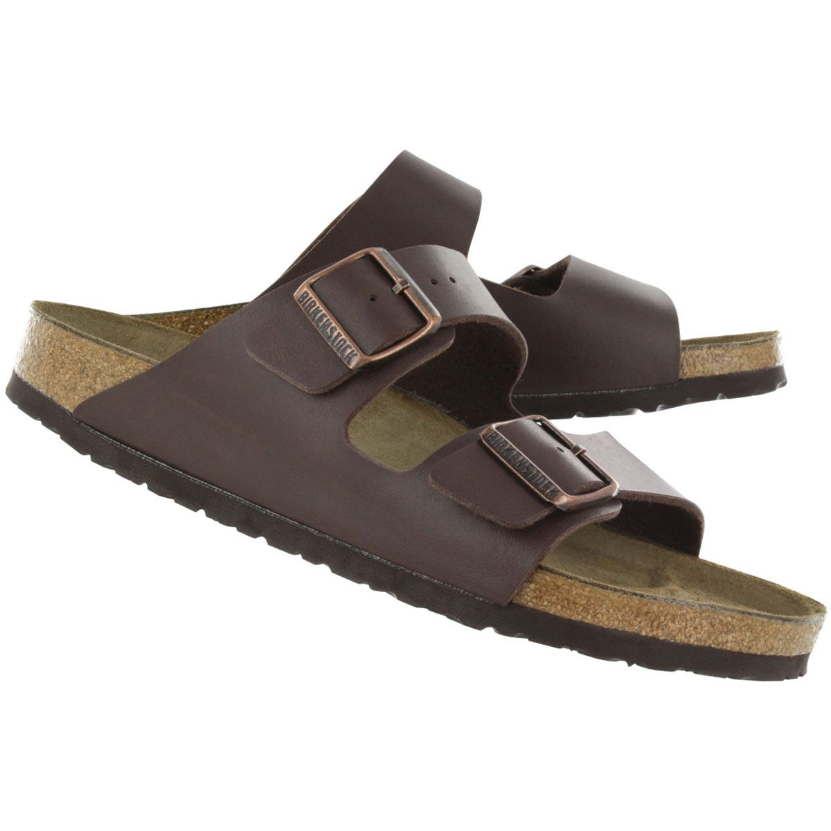 Birkenstock Men's ARIZONA brown 2 strap sandals 051701 m