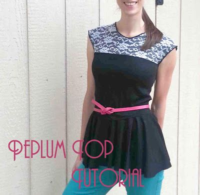 Made by Me. Shared with you.: Top-Toberfest: Peplum Lace Yoke Top Tutorial