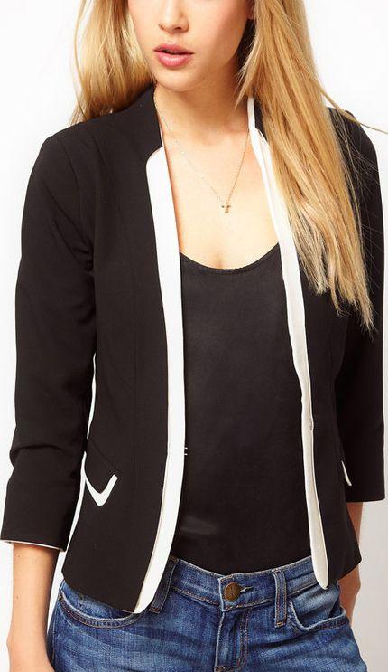 Mixed colors suit jacket