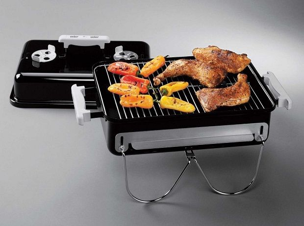 Weber Go Anywhere Charcoal Grill Portable Charcoal Grill Cooking On The Grill Cooking Area