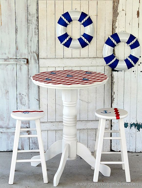 Nautical Furniture Makeover Sailboat Inspired Beach Diy Ideas And Furniture Makeover