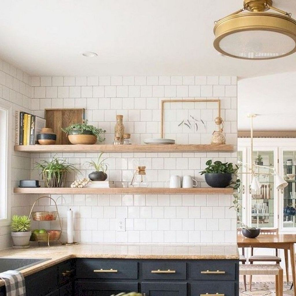 47 Cool Kitchen Decor Open Shelves Ideas Kitchen Modern