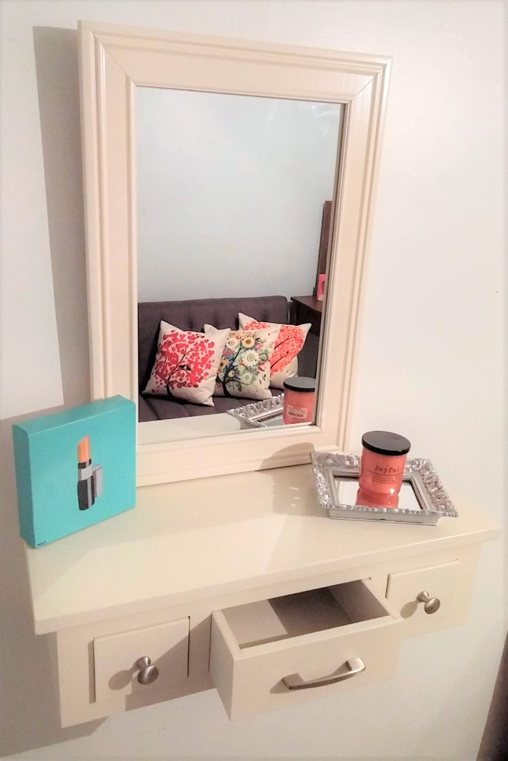 Small Floating Vanity by Meagansmood on Etsy (With images