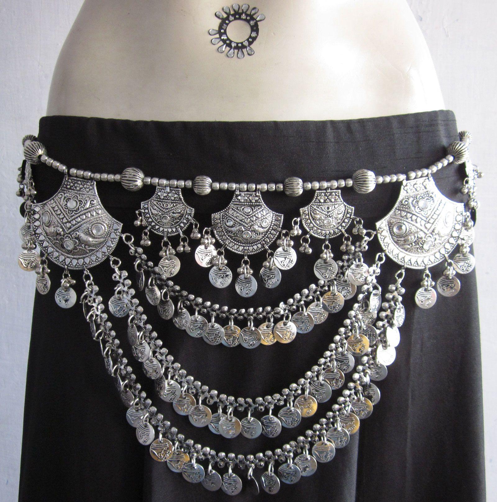 Costume Skirt Waist Hip Jewelry Boho Gypsy Fusion Belly Dance Tassel BELT
