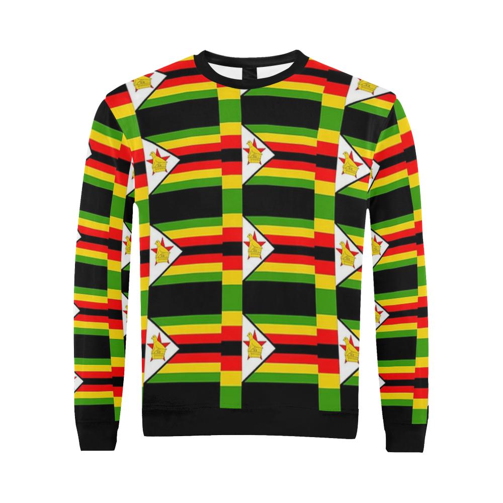 Zimbabwe All Over Print Crewneck Sweatshirt For Men Model H18 Crew Neck Sweatshirt Men Model Sweatshirts [ 1000 x 1000 Pixel ]