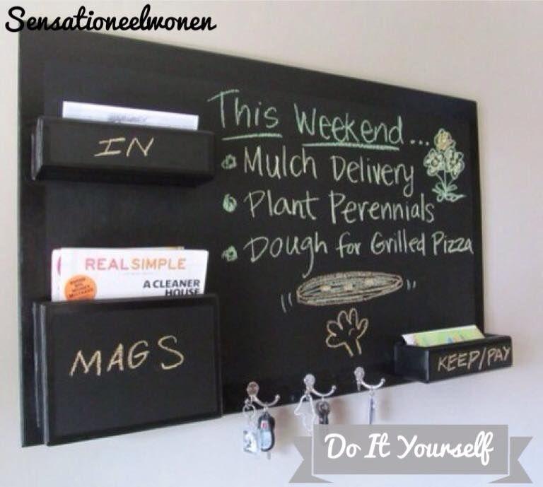 Do it yourself sensationeelwonen diy home decor another diy chalkboard mail organizer solutioingenieria Choice Image