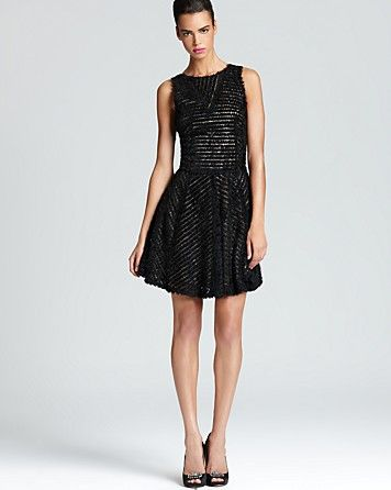Nicole miller sleeveless dress ruffle skirt for Bloomingdales dresses for wedding guests