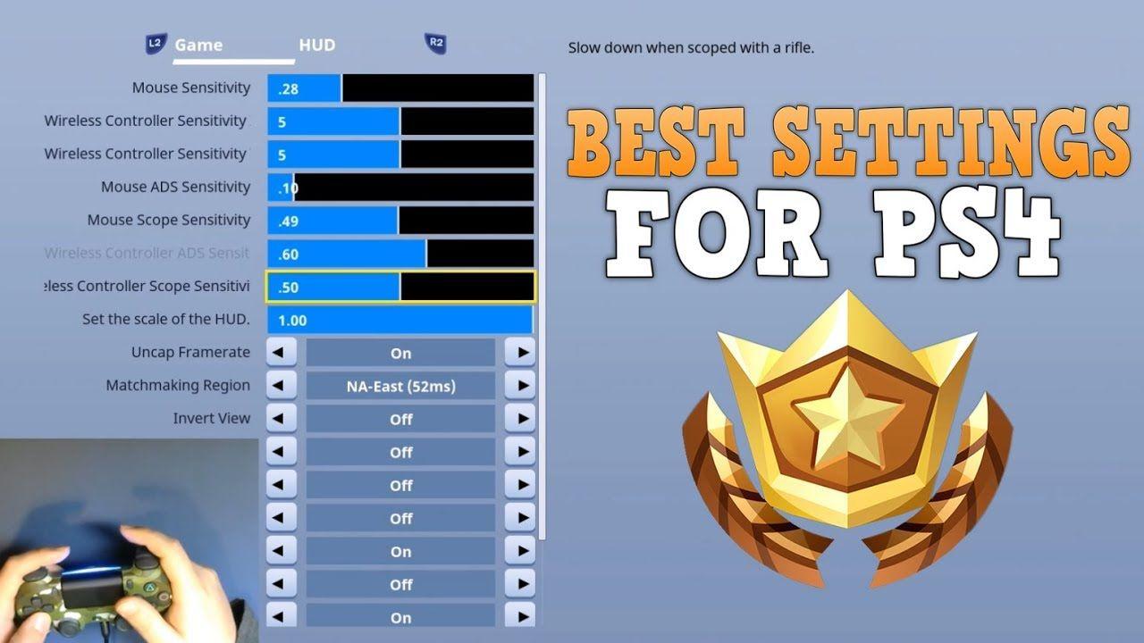 Fortnite Settings Guide For Ps4 Tips Battleroyale Ps4
