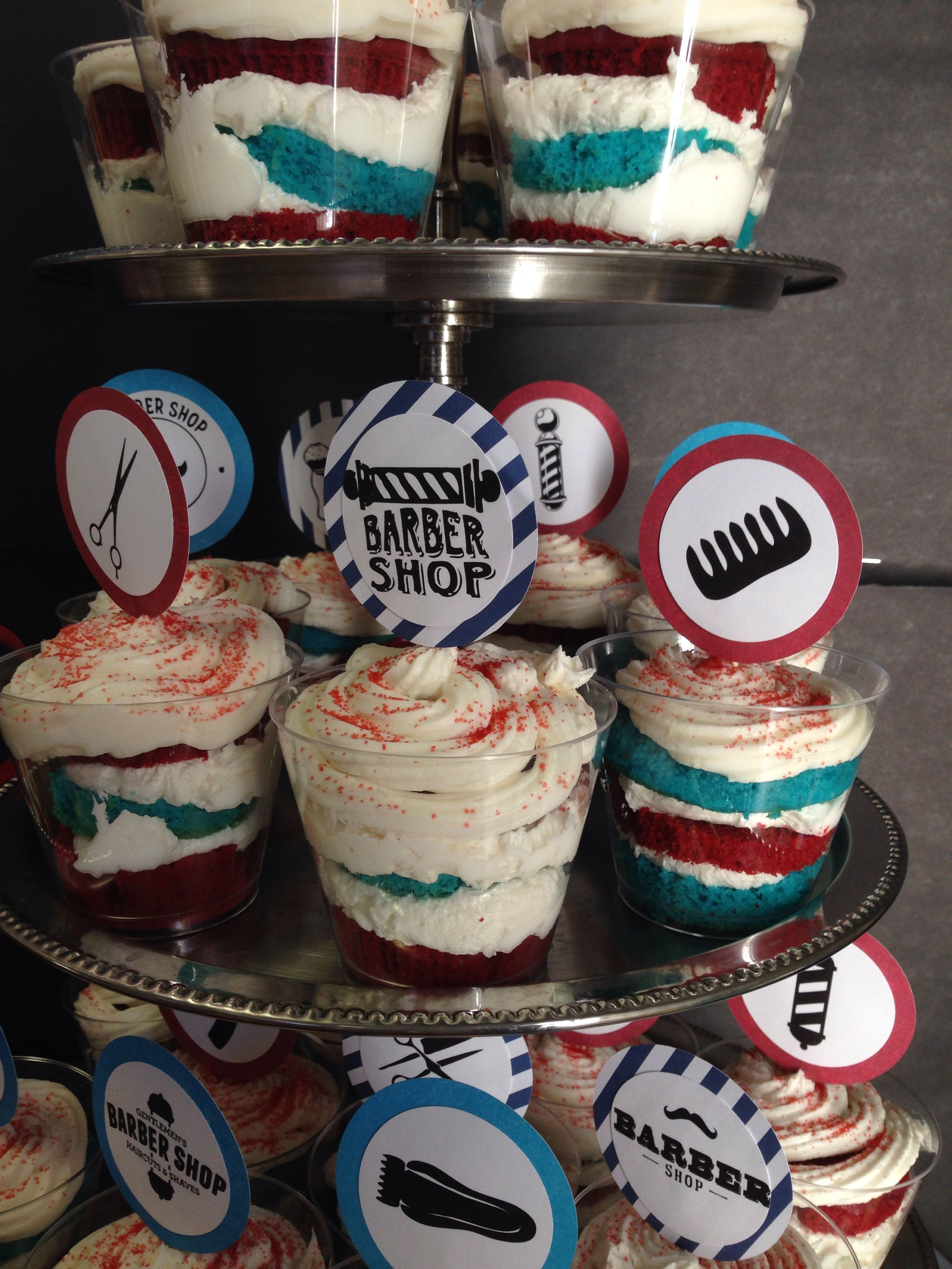 Barber Shop Party Cake Cups My Parties Barber Gifts