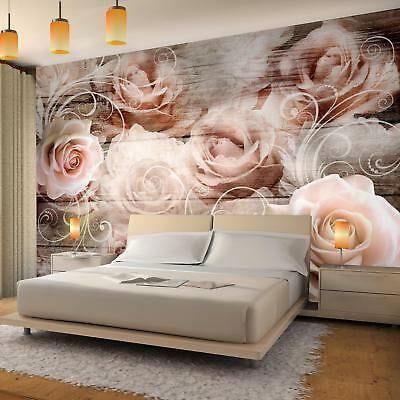 Details zu Fototapete Vintage Blumen Rosen Tapete