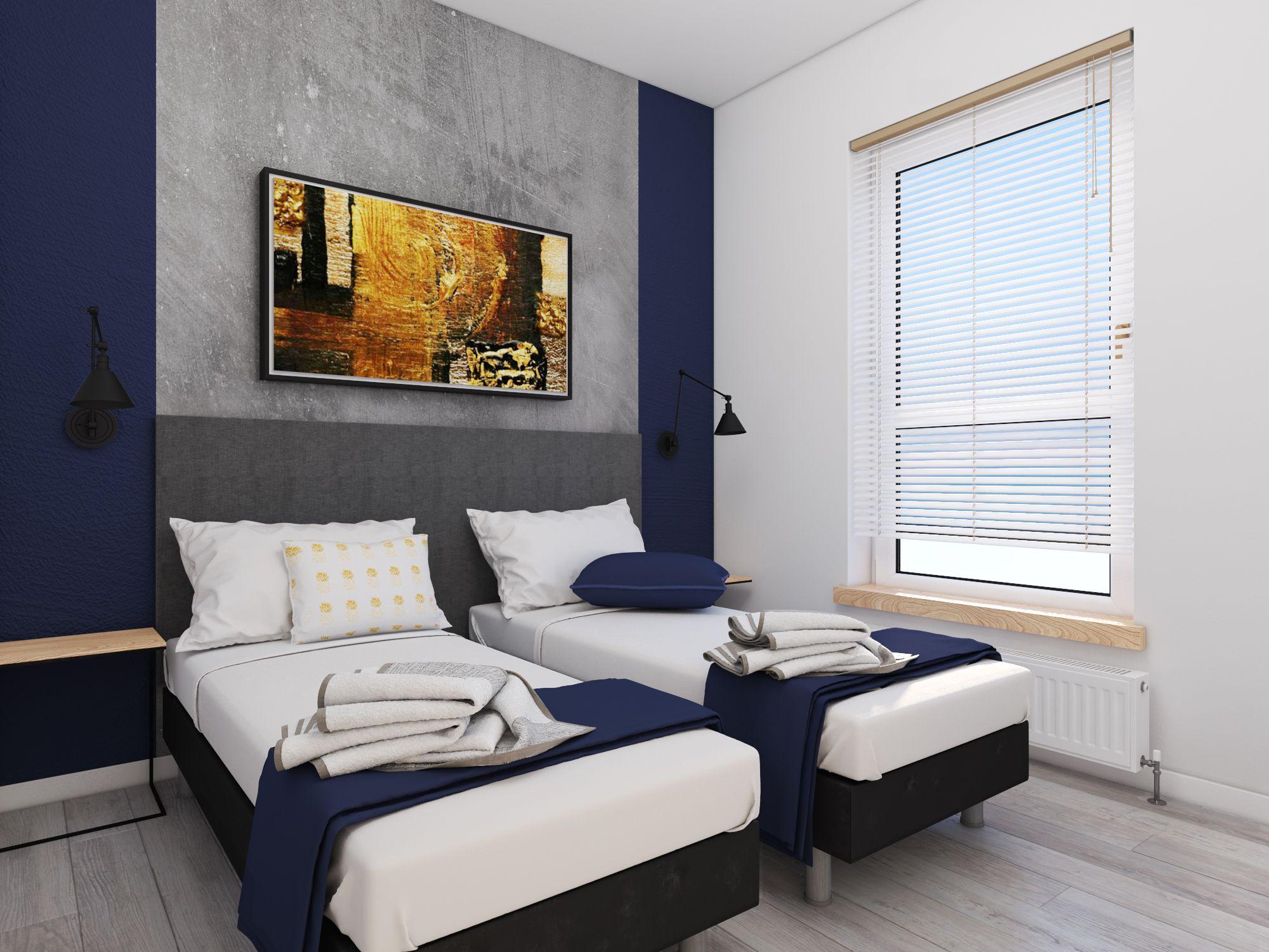 Projekt Salonu Z Aneksem Kuchennym I Sypialni Apartament