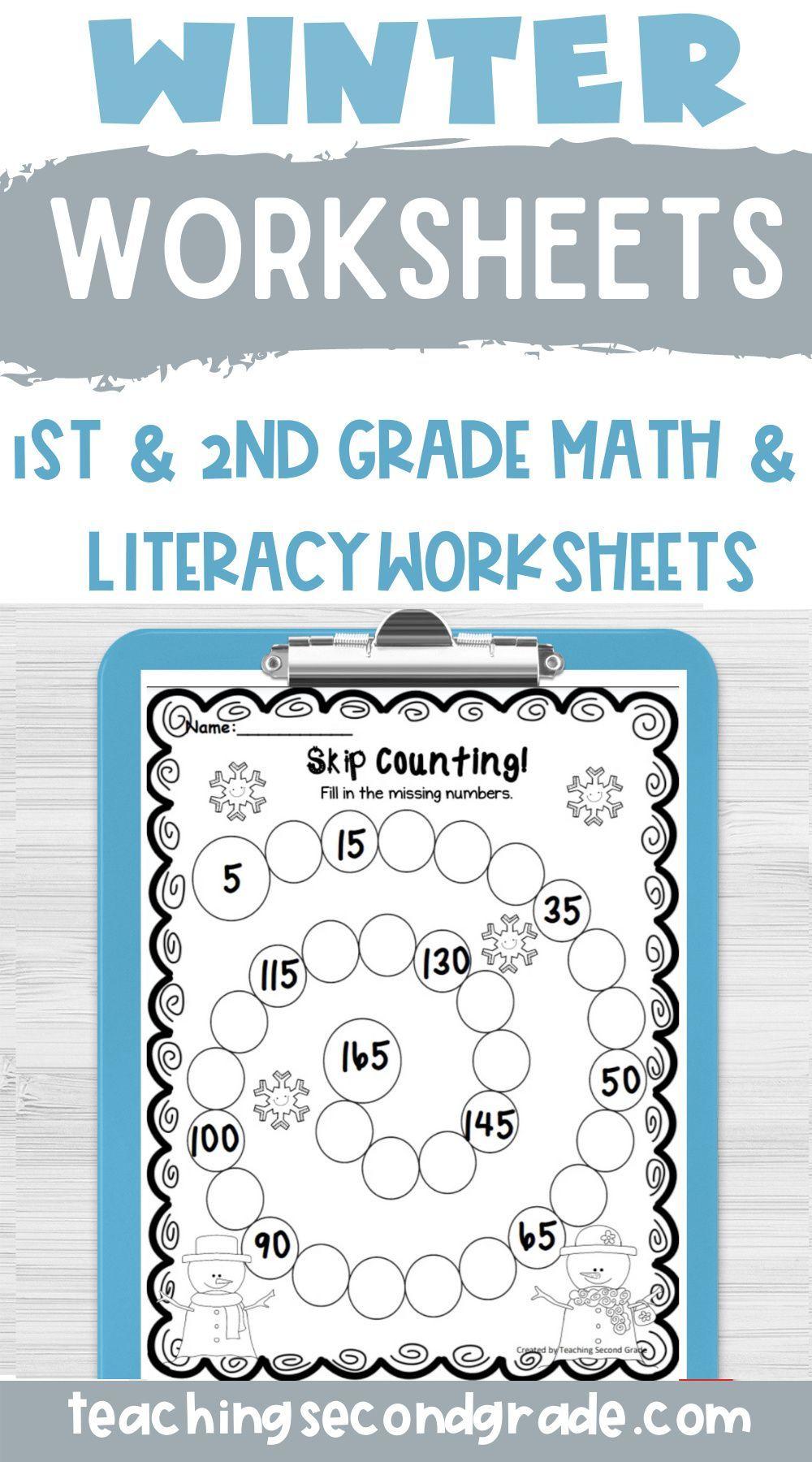 Winter Worksheets Winter Themed Math Winter Math Centers Fun Classroom Activities [ 1800 x 1000 Pixel ]
