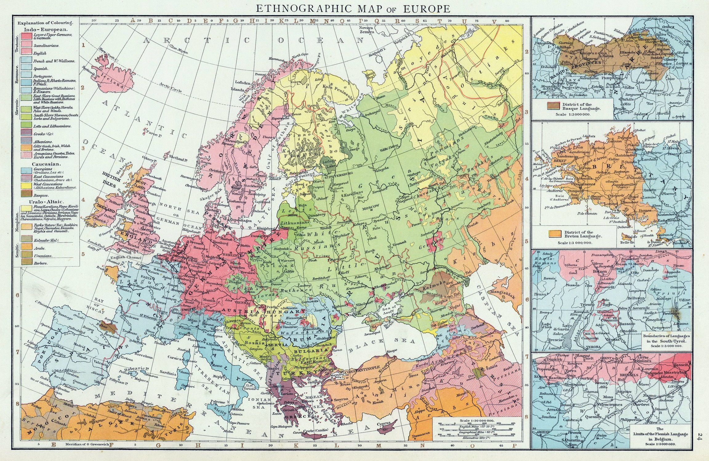 Ethnographic Map Of Europe (1900)