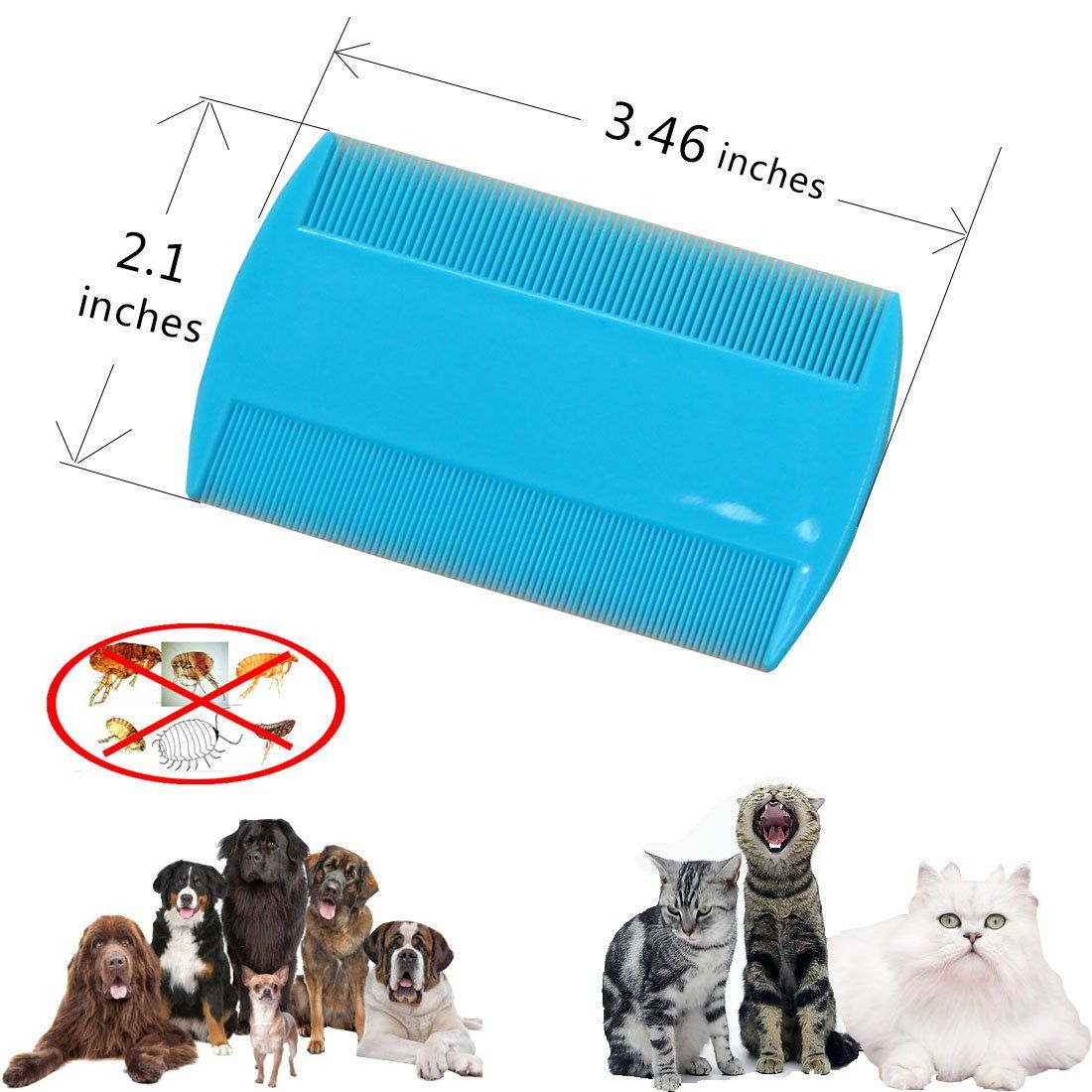 Sonki Pet Dog Hair Flea Comb Stainless Pin Dog Cat Grooming Tick Lice Comb Clean Tool 3 Pcs You Can Get More Information In 2020 Cat Grooming Dog Hair Dog Grooming