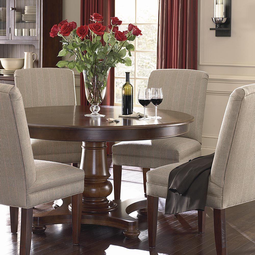 "Bassettfurniture Com: Custom Dining 54"" Round Pedestal Table"