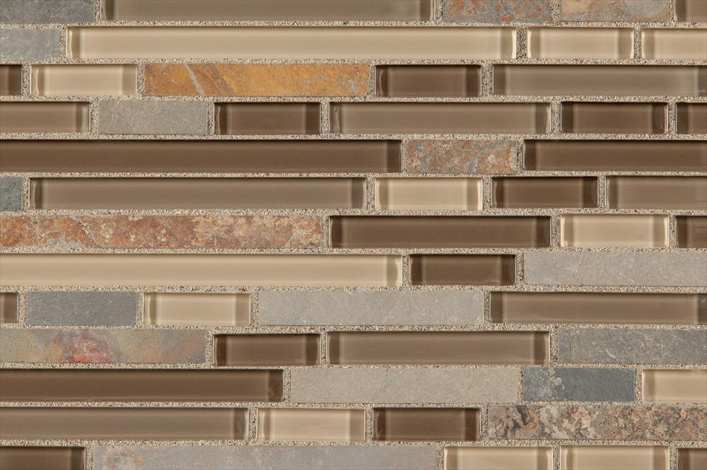 BuildDirect®: Glass Stone Blend Mosaic Tile   Premium Blends Pattern Series    Havana Dune