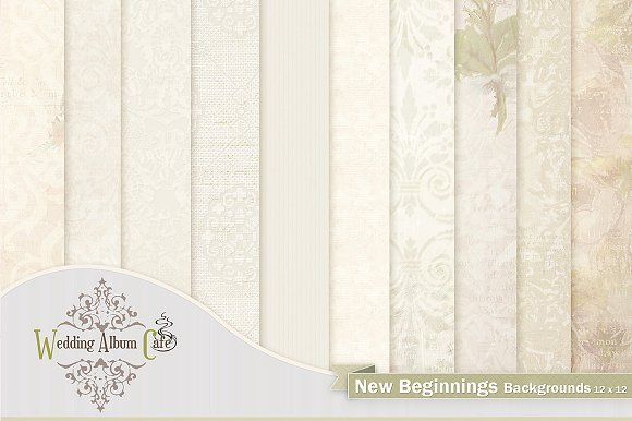 New Beginnings Digital Papers Graphics 10 Wedding Themed Backgrounds For Professional Photographers 12 X To Compliment You By Al